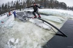Вейкбординг и вейкскейт зимой