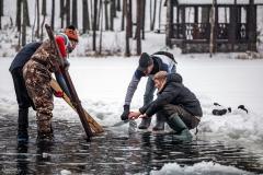 Вейкбординг зимой в Санкт-Петербурге