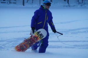 Сноуборд в вейк-парке