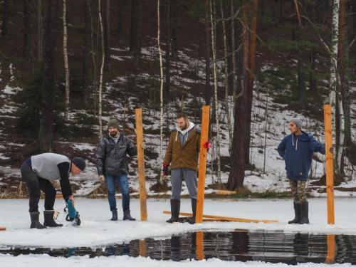 Ice wakeboarding